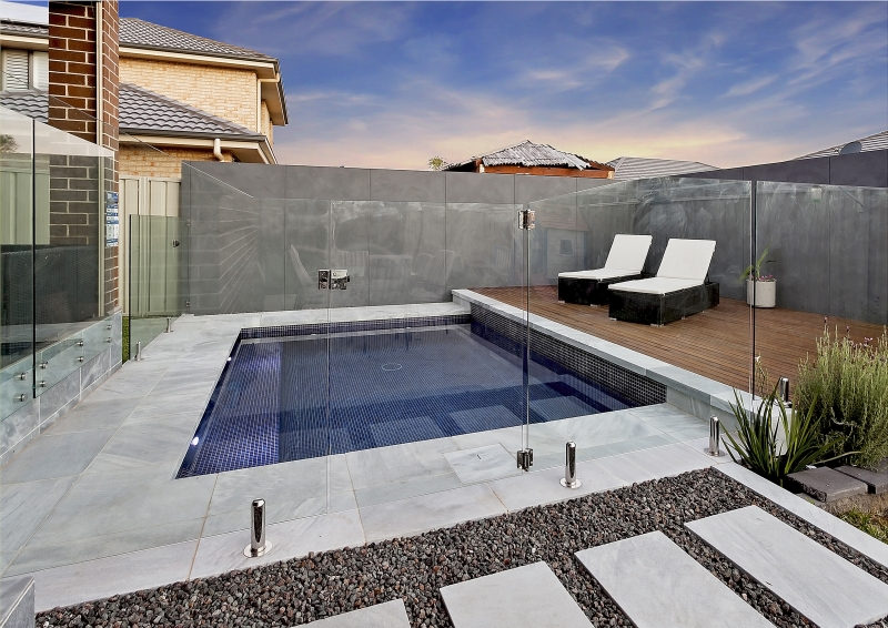 A custom concrete pool  we built for Mario in Wollongong